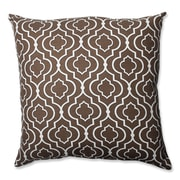 Pillow Perfect Donetta Cotton Floor Pillow; Chocolate