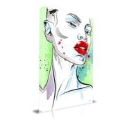Maxwell Dickson 'Subtle' Portrait Fashion Graphic Art on Wrapped Canvas; 24'' H x 18'' W x 1.5'' D