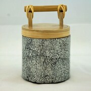 Bodhi Tree Collections 14-Ounce Bamboo Canister