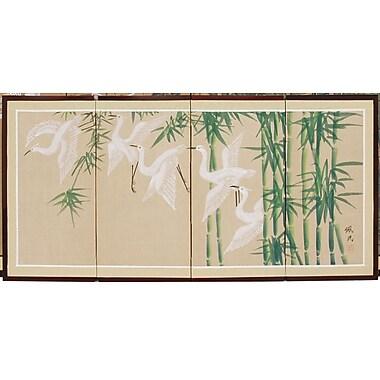 Oriental Furniture 18'' x 36'' Bamboo Escape 4 Panel Room Divider