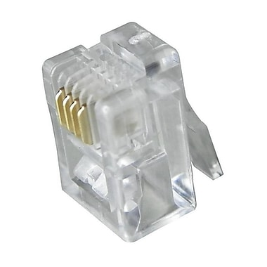 Digiwave – Connecteur RJ11 4P4C, 0,1 x 0 x 0 po, transparent, paq./100