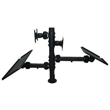 TygerClaw Dual Display Point of Sale Desk Mount with 2 Keyboard Tray, 20.9
