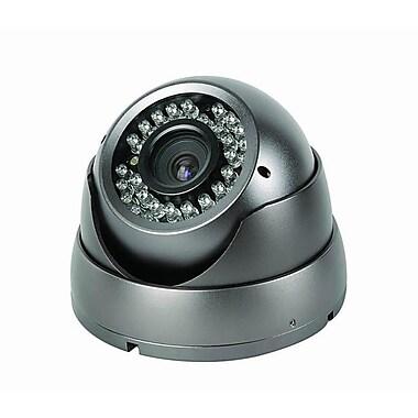 SeqCam – Caméra de sécurité couleur en dôme, IR, anti-vandalisme, 5 po x 5 po x 4 po, gris