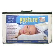 Eco-Lux Posture Plus Contour Memory Foam Standard Pillow (Set of 2)