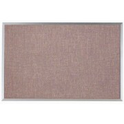 AARCO Designer Fabric Wall Mounted Bulletin Board, 2' H x 3' W