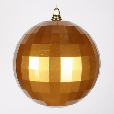 Vickerman Candy Mirror Ball Ornament; Antique Gold