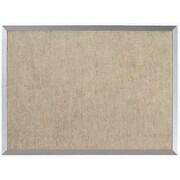 AARCO Burlap Weave Wall Mounted Bulletin Board; 1' 6'' H x 2' L