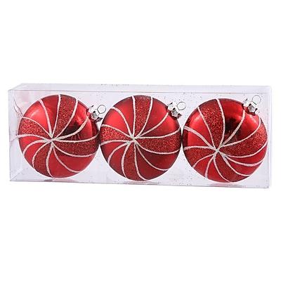 Vickerman Assorted Shape Flat Ball Christmas Ornament