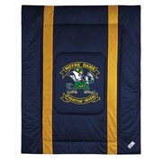 Sports Coverage NCAA University of Notre Dame Sidelines Comforter; Full/Queen