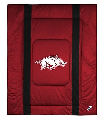 Sports Coverage NCAA University of Arkansas Sidelines Comforter; Twin WYF078277151074