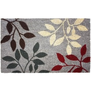 J&M Home Fashions Natural Ferns Doormat