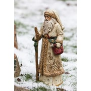 Evergreen Flag & Garden Old World Santa Gold Overcoat Christmas Decoration