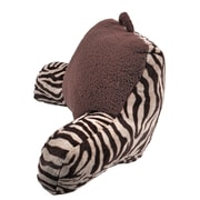 Sleeping Partners 2 Plush Zebra Print and Sherpa Bed Rest Pillow
