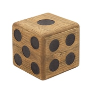 Woodland Imports Wood Teak Dice Stool