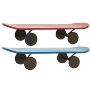 Woodland Imports Simply Lovely Metal Skate Shelf (Set of 2); 5'' H x 24'' W x 7'' D