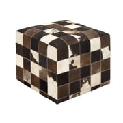 Woodland Imports Superior and Soft Leather Ottoman