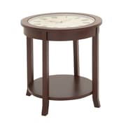 Woodland Imports Ingenious Clock End Table; Dark Brown