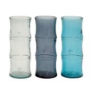 Woodland Imports Timelessly Beautiful Glass Bamboo Vase (Set of 3)