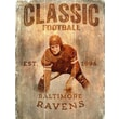 Fan Creations NFL Vertical Classic Football Graphic Art Plaque; Baltimore Ravens