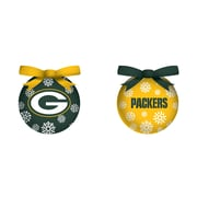 Team Sports America NFL LED Boxed Ornament Set; Green Bay Packers
