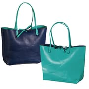 Cypress Ting Shopping Tote; Navy and Aqua