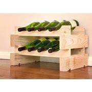 Vinotemp 8 Bottle Floor Wine Rack; Natural