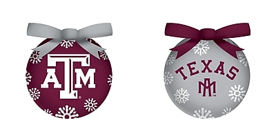 Team Sports America NCAA LED Boxed Ornament Set; Texas A&M