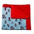Blossom and Buds Transportation Printed Minky Dot Cotton Polyester Blanket