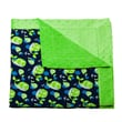 Blossom and Buds Out to Sea Printed Minky Dot Cotton Polyester Blanket