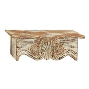 Woodland Imports Traditional and Classy Wood Wall Shelf