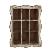 Woodland Imports Lovely and Timeless Wood Wall Shelf