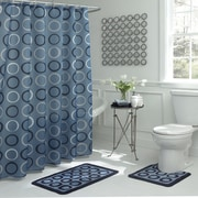 Bath Fusion Terrell Geometric 15 Piece Bath Set; Light Blue/Navy