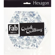 FabScraps Shabbylicious 60BHX Blue Hexagons, 42/Pack