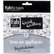 FabScraps Shabbylicious Applique Motifs, 12/Pack