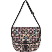 Laurel Burch Catori NAV450 Cotton/Polyester Flap Over Tote, Adana
