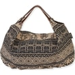 Laurel Burch Catori NAV424A Jute Hobo Tote, Sufi Black
