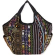 Laurel Burch Catori NAV500A Cotton/Polyester Shoulder Tote, Tangiers Black