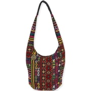 Laurel Burch Catori NAV502B Cotton/Polyester Soft Hobo Tote, Tangiers Red