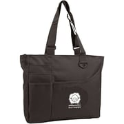 "K1C2 KH112-BA Black Knit Happy Bright Bag, 13"" x 15"" x 4"""