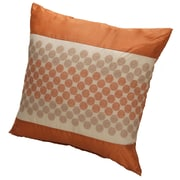 Kashi Home Rio Throw Pillow; Orange