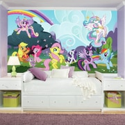 Room Mates Prepasted My Little Pony Ponyville XL Ultra-strippable Wall mural