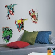 Room Mates Internet Only Marvel Superhero Burst Peel and Stick Giant Wall Decals
