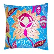 Imports Decor Cotton Throw Pillow; Blue/Pink/White
