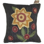 Homespice Decor Primitive Button Blooms Throw Pillow