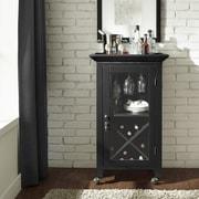 Crosley Jefferson Portable Bar Cabinet; Black