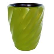 Enrico Spiral Utensil Vase; Avocado