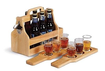 Picnic Plus by Spectrum Brew Fest 6 Bottle Tabletop Wine Rack WYF078277626869