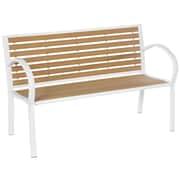 Alfresco Home Wicklow Garden Bench; White / Camel