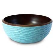 Enrico Honeycomb Salad Bowl; Turquoise