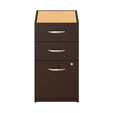 Bush® Business Westfield Elite 16W 3 Drawer Pedestal, Mocha Cherry